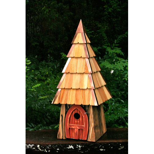Lord of the Wing Bird House - Redwood