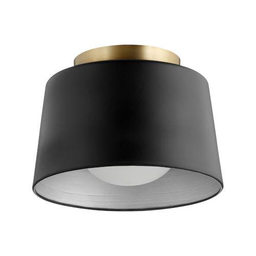 Black 11-Inch One-Light Flush Mount