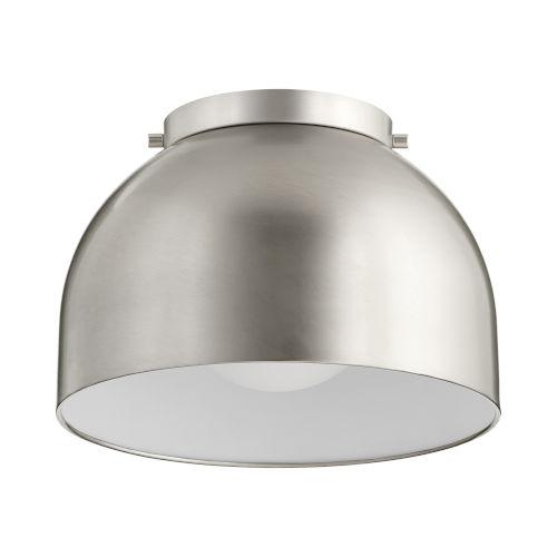 Satin Nickel 11-Inch One-Light Flush Mount