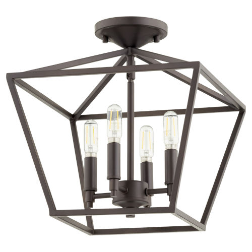 Gabriel Oil Bronze Four-Light Dual Mount Pendant