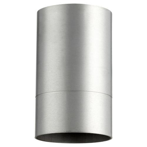 Cylinder Brushed Aluminum One-Light Flush Mount