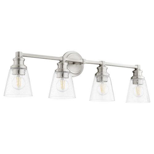 Dunbar Satin Nickel Four-Light Bath Vanity
