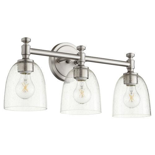 Rossington Satin Nickel with Clear 22-Inch Three-Light Bath Vanity