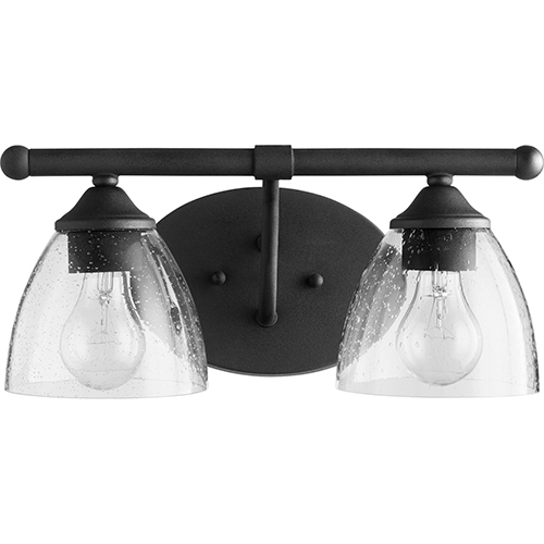 Brooks Black and Clear Two-Light Vanity