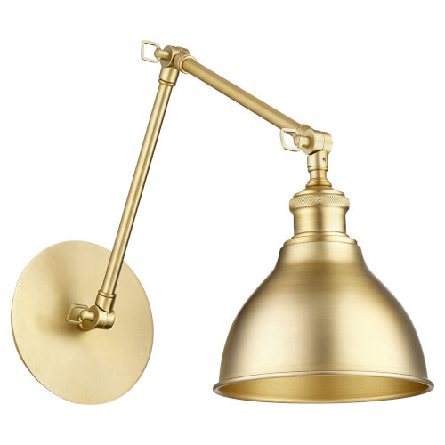 Aged Brass Seven-Inch One-Light Wall Mount