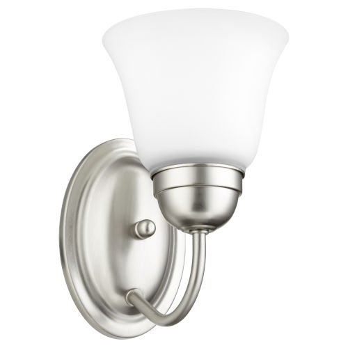 Satin Nickel Five-Inch One-Light Wall Mount