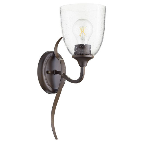 Jardin Oiled Bronze with Clear Six-Inch One-Light Wall Mount