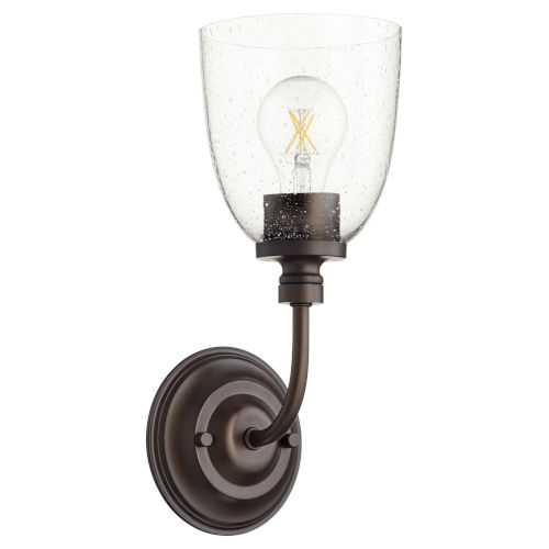 Rossington Oiled Bronze with Clear Five-Inch One-Light Wall Mount