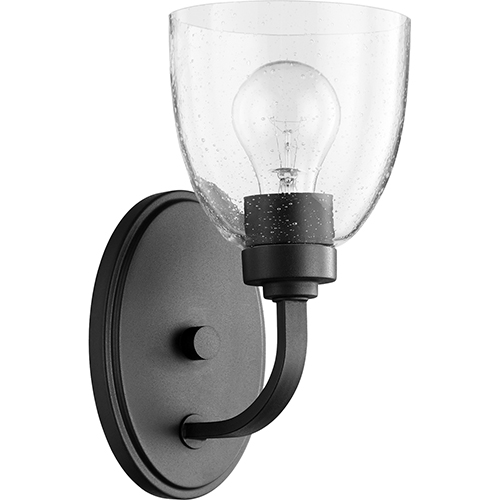 Reyes Black and Clear One-Light Wall Sconce
