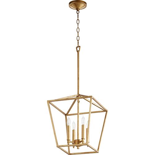Gabriel Gold Leaf Four-Light Pendant