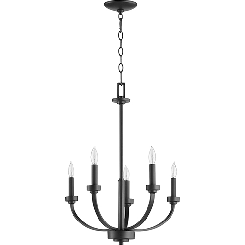 Reyes Black Five-Light Chandelier