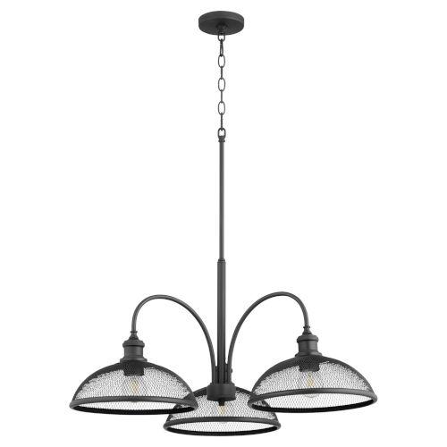 Omni Black 32-Inch Three-Light Nook Pendant