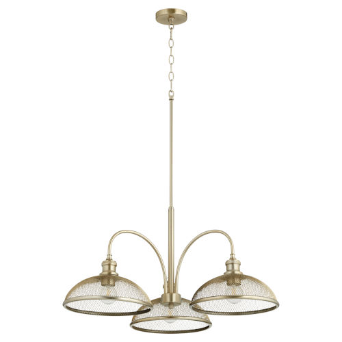 Omni Aged Brass 32-Inch Three-Light Nook Pendant