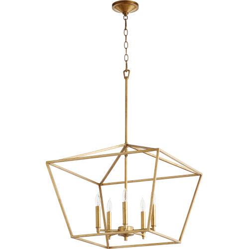Gabriel Gold Leaf Five-Light Pendant