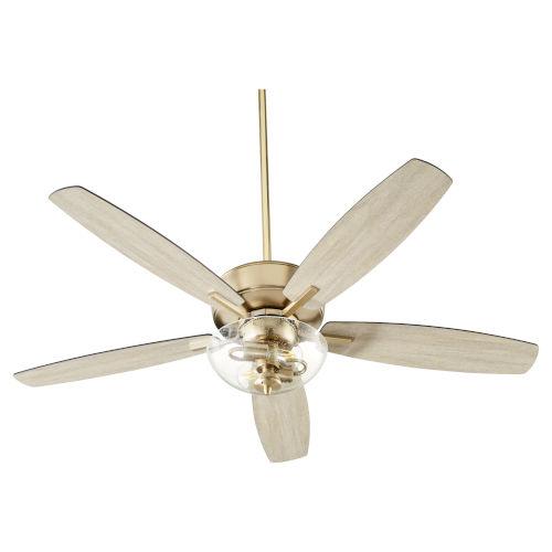 Breeze Aged Brass Two-Light 52-Inch Ceiling Fan