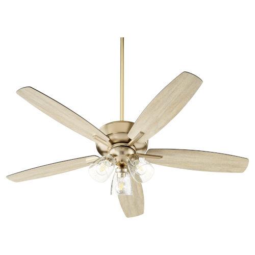 Breeze Aged Brass Three-Light 52-Inch Ceiling Fan