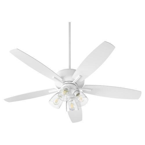 Breeze Studio White Four-Light 52-Inch Ceiling Fan