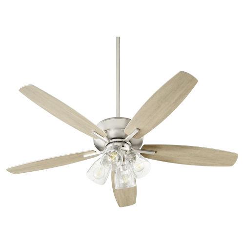 Breeze Satin Nickel Four-Light 52-Inch Ceiling Fan