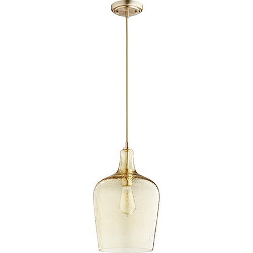 Aged Brass Nine-Inch One-Light Mini Pendant