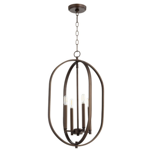 Collins Oiled Bronze 20-Inch Five-Light Entry Pendant