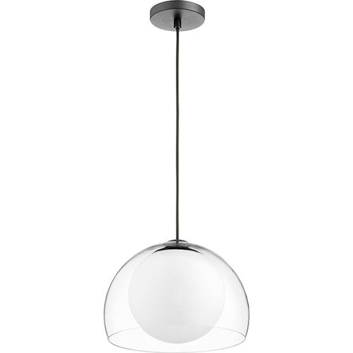 Black 12-Inch One-Light Pendant