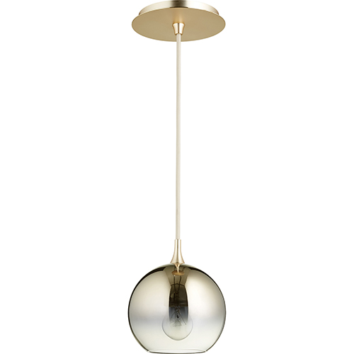 Satin Gold and Light Gold Ombre One-Light Mini Pendant