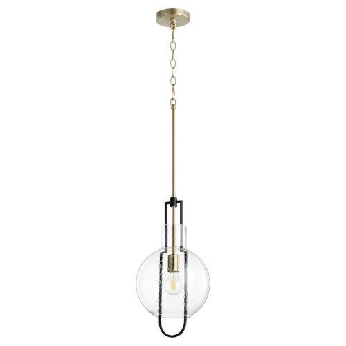 Noir Aged Brass 10-Inch One-Light Pendant