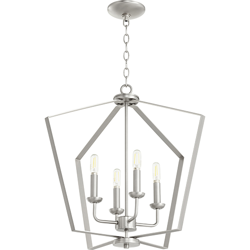 Satin Nickel Four-Light Pendant