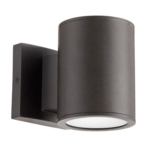Cylinder Oil Bronze Two-Light LED Outdoor Wall Mount