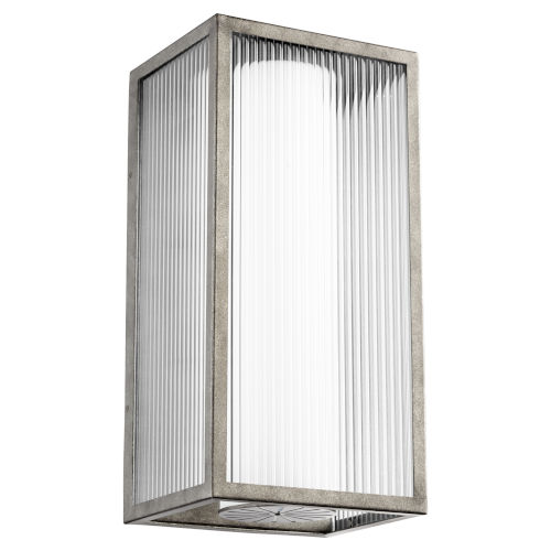Maestro Weathered Zinc Three-Light LED 12-Inch Outdoor Wall Mount