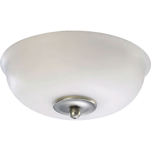Satin Nickel Two Light Kit with Satin Opal Glass