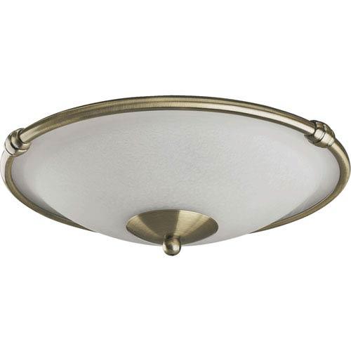 Quorum International Low-Profile Two-Light Antique Brass Light Kit