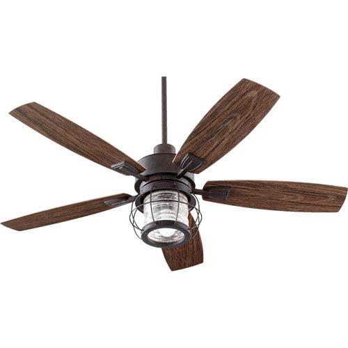 Galveston Toasted Sienna One-Light Patio Fan