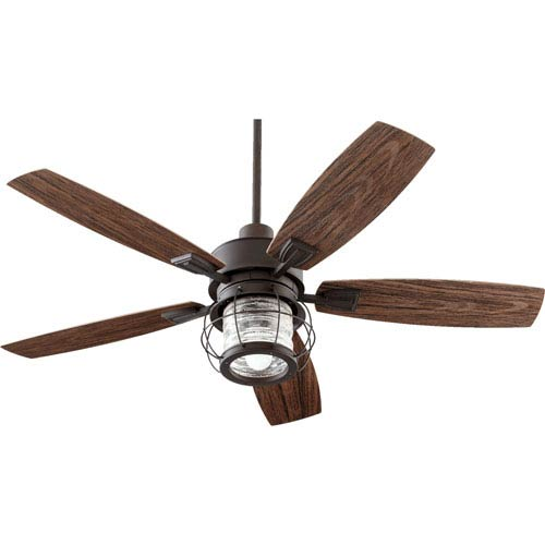 Galveston Oiled Bronze One-Light Patio Fan