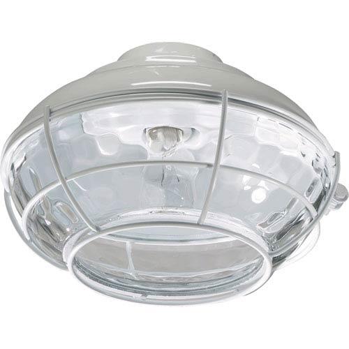 Hudson One-Light White Patio Light Kit