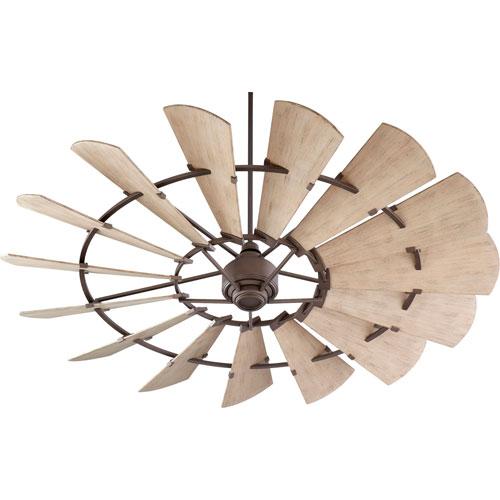 Windmill Oiled Bronze 72-Inch Damp Ceiling Fan
