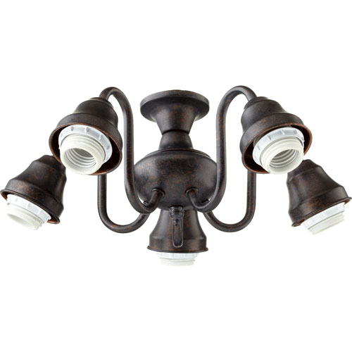 Toasted Sienna Energy Saving Five Light Kit Mounting Hardware