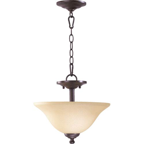 Spencer Two-Light Toasted Sienna Convertible Pendant