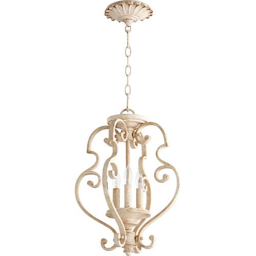 San Miguel Persian White Three-Light 14-Inch Pendant