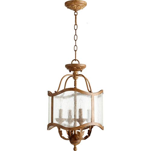 Salento French Umber 13-Inch Four-Light Convertible Pendant
