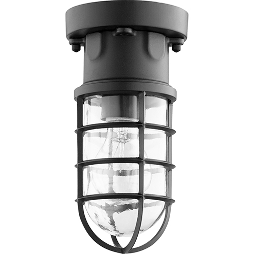 Quorum International Belfour Noir One-Light 4.88-Inch Ceiling Mount