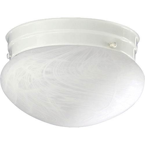 Quorum International Mushroom One-Light White Flush Mount