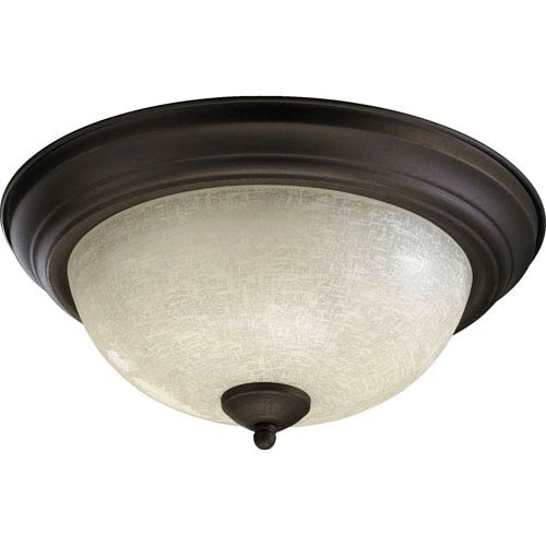 Quorum International Two-Light Oiled Bronze Flush Mount