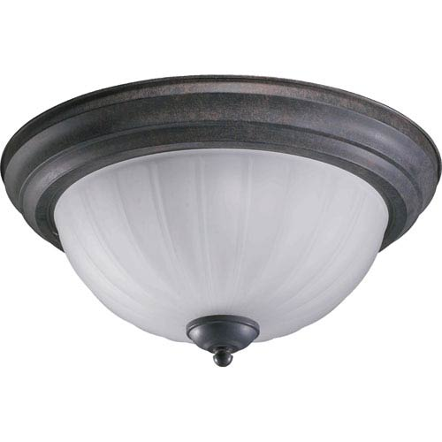 Quorum International Three-Light Toasted Sienna Flush Mount