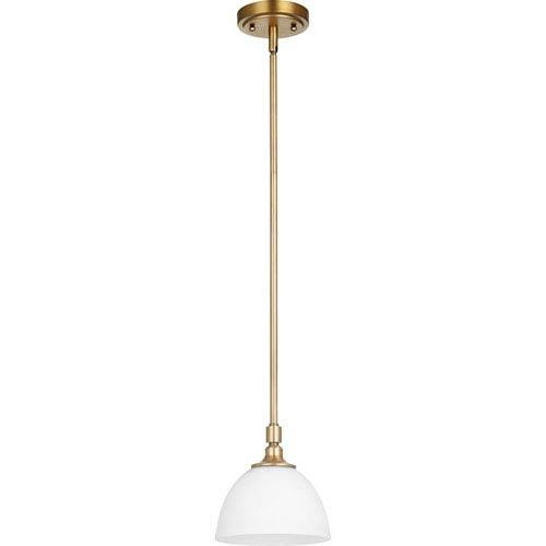 Celeste Aged Brass One-Light Mini Pendant