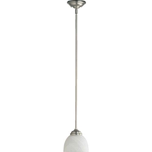 Quorum International Ashton One-Light Satin Nickel Pendant