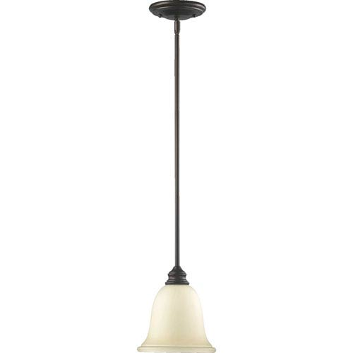 Bryant One-Light Oiled Bronze with Antique Gold Mini Pendant