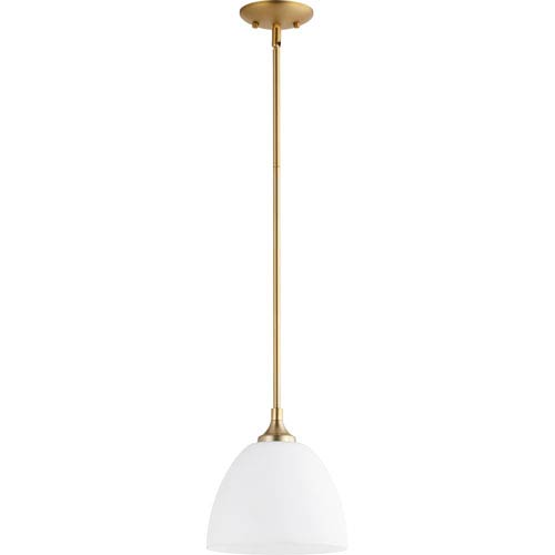 Enclave Aged Brass One-Light 9-Inch Mini Pendant