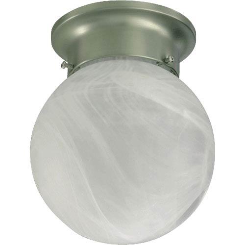Quorum International Ball One-Light Satin Nickel Flush Mount