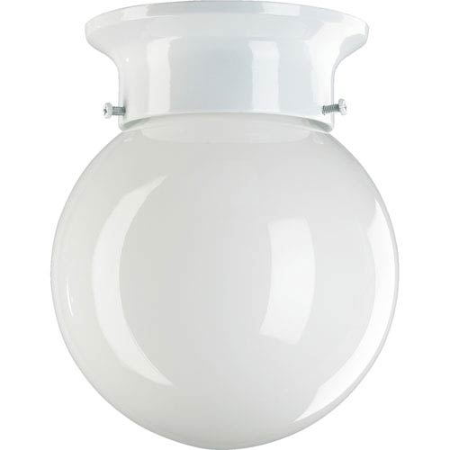 Quorum International Ball One-Light White Flush Mount